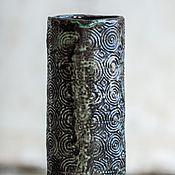 Для дома и интерьера ручной работы. Ярмарка Мастеров - ручная работа Черная керамическая ваза. Handmade.