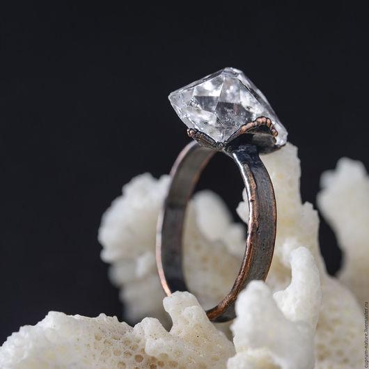 """Кольца ручной работы. Ярмарка Мастеров - ручная работа. Купить Кольцо """"Херкимер"""" (кварц, натуральные камни, кристаллы"""" 56/53. Handmade."""