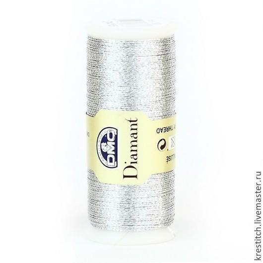 Вышивка ручной работы. Ярмарка Мастеров - ручная работа. Купить DMC DIAMANT (D415) металлизированные нити для вышивания. Handmade.