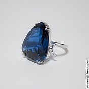 Украшения handmade. Livemaster - original item Ring with blue spinel. 925 sterling silver.. Handmade.