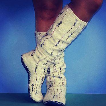 Аксессуары ручной работы. Ярмарка Мастеров - ручная работа Носки из собачьей шерсти, валяные носки. Handmade.