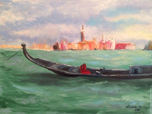 """Пейзаж ручной работы. Ярмарка Мастеров - ручная работа. Купить Картина """"Венеция, вид на о. Джудекка"""". Handmade. Подарок на любой случай"""