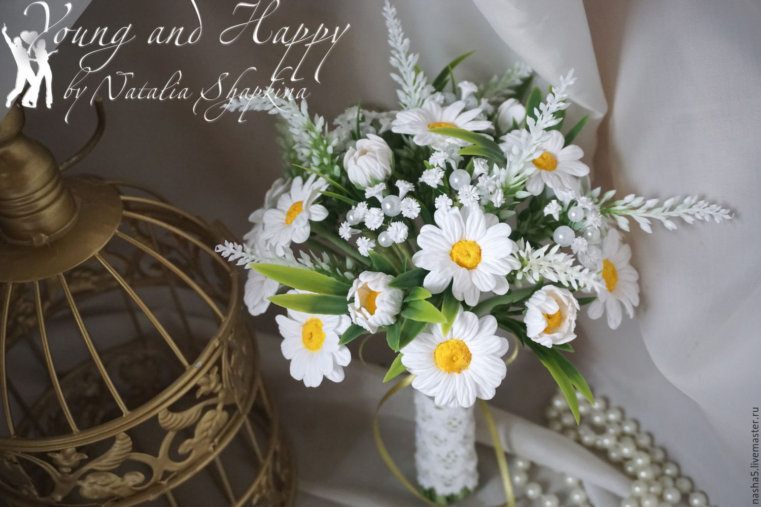 A Bouquet Of Daisies And Gypsophila Shop Online On Livemaster With