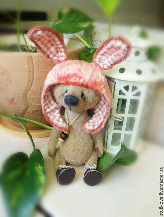 Мишки Тедди ручной работы. Ярмарка Мастеров - ручная работа. Купить Мишка тедди Морковкин. Handmade. Коричневый, тедди в шапочке