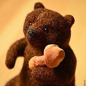 Куклы и игрушки handmade. Livemaster - original item Felt toy Bear with mushrooms. Handmade.