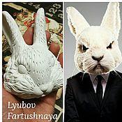 Материалы для творчества ручной работы. Ярмарка Мастеров - ручная работа Заготовка голова кролика. Handmade.