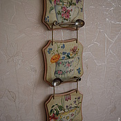 Для дома и интерьера ручной работы. Ярмарка Мастеров - ручная работа Панно-подвески   Чай втроем. Handmade.