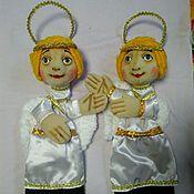 Куклы и игрушки handmade. Livemaster - original item Angels Christmas. The glove theatre-goer-ing doll.. Handmade.
