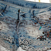 Одежда handmade. Livemaster - original item shorts denim jeans amber. Handmade.