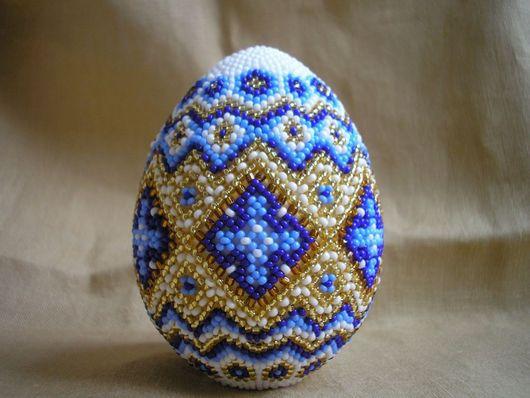 """Подарки на Пасху ручной работы. Ярмарка Мастеров - ручная работа. Купить Пасхальное яйцо серии """"Иней"""". Handmade. Пасхальное яйцо"""