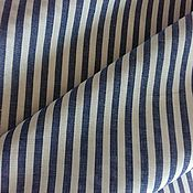Ткани ручной работы. Ярмарка Мастеров - ручная работа Ткань хлопок  поплин в т.голубую полоску .. Handmade.