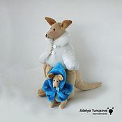 Куклы и игрушки ручной работы. Ярмарка Мастеров - ручная работа Кенгуру с кенгурёнком. Handmade.