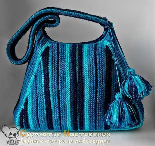 Женские сумки ручной работы. Ярмарка Мастеров - ручная работа. Купить сумка хобо вязаная OCEAN SOUL полосатая яркая удобная. Handmade.