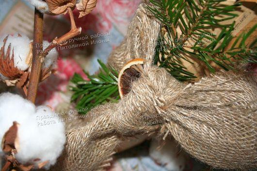 """Подарочная упаковка ручной работы. Ярмарка Мастеров - ручная работа. Купить Упаковка подарков """"Уютный Новый год"""". Handmade."""