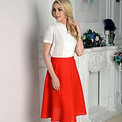 Одежда ручной работы. Ярмарка Мастеров - ручная работа Юбка красная, юбка полусолнце Angel. Handmade.