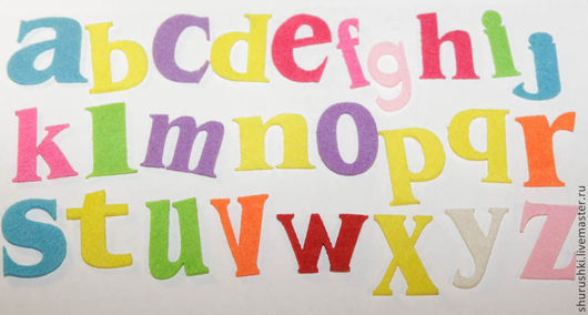 Валяние ручной работы. Ярмарка Мастеров - ручная работа. Купить Funny alphabet. Handmade. Буквы, английский алфавит, вырубка для открыток