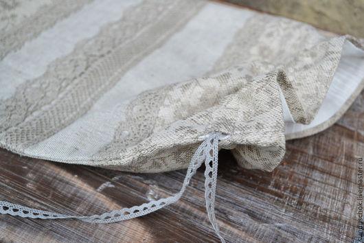"""Кухня ручной работы. Ярмарка Мастеров - ручная работа. Купить Мешочек для хлеба """"Изящный серый"""" (льняные фантазии). Handmade."""