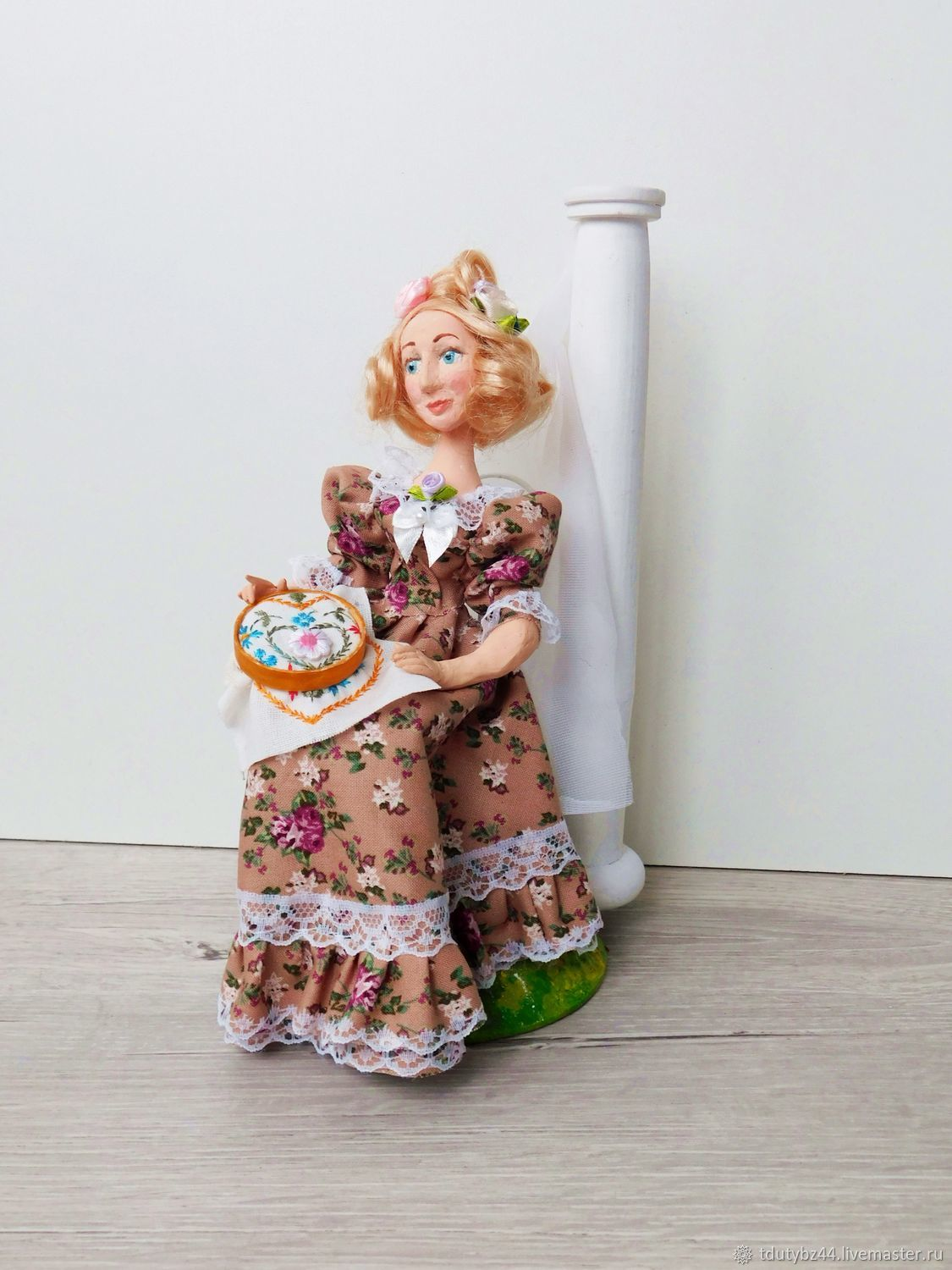 Author's doll EMBROIDERER collectible doll author, Dolls, Moscow,  Фото №1