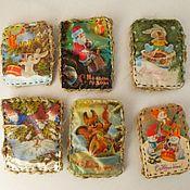 Сувениры и подарки handmade. Livemaster - original item Christmas magnets