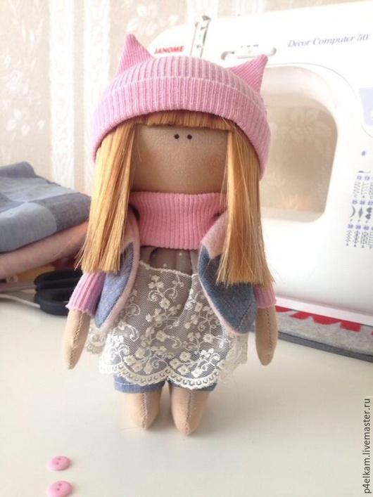 Куклы тыквоголовки ручной работы. Ярмарка Мастеров - ручная работа. Купить Кукла Кисуля. Handmade. Бледно-розовый, кукла в подарок