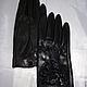 Варежки, митенки, перчатки ручной работы. Перчатки женские кожаные автомобильные без подкладки с кружевом. Кочетова Светлана. Ярмарка Мастеров.
