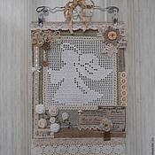 """Для дома и интерьера ручной работы. Ярмарка Мастеров - ручная работа Текстильное панно """"Нежный ангел..."""". Handmade."""