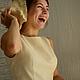 """Платья ручной работы. Ярмарка Мастеров - ручная работа. Купить Платье"""" АнгелА """". Handmade. Кремовый, лето, индивидуальный заказ"""