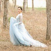 Свадебный салон handmade. Livemaster - original item Blue wedding dress — Share - Sale Sample. Handmade.