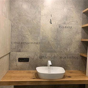 Для дома и интерьера ручной работы. Ярмарка Мастеров - ручная работа Столешница для ванной комнаты. Handmade.