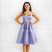 Одежда ручной работы. Ярмарка Мастеров - ручная работа Атласное платье - бюстье. Handmade.