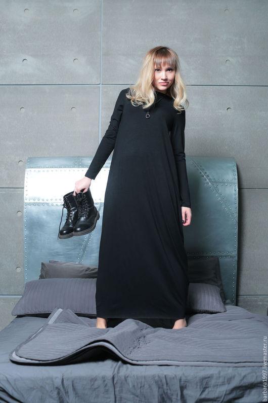 Платья ручной работы. Ярмарка Мастеров - ручная работа. Купить Платье трикотажное Asymmetric black. Handmade. Платье, женская одежда