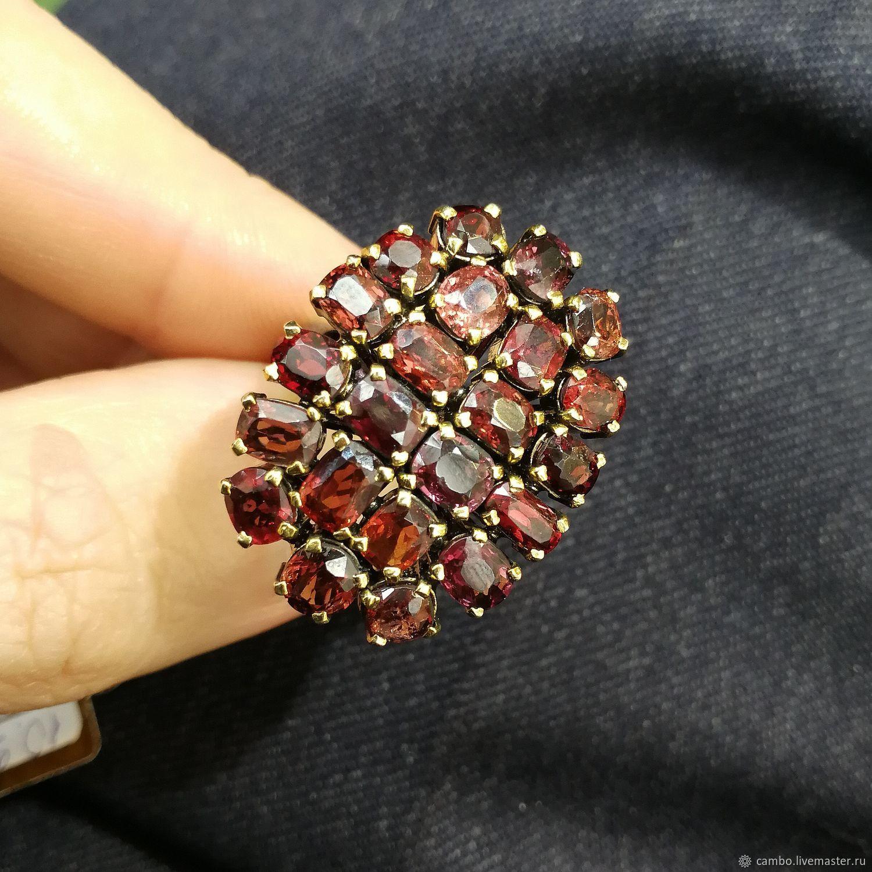 Кольцо с красной, фиолетовой шпинелью, Кольца, Москва,  Фото №1