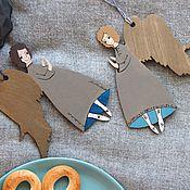 Подарки к праздникам ручной работы. Ярмарка Мастеров - ручная работа Ангелы серые в носочках. Handmade.
