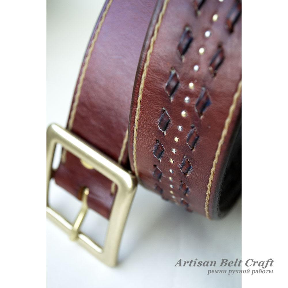 Кожаный ремень ручной работы Artisan Belt Craft
