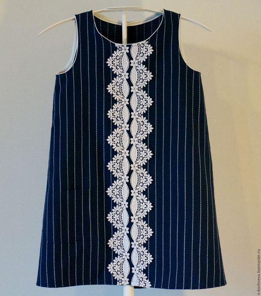 Одежда для девочек, ручной работы. Ярмарка Мастеров - ручная работа. Купить Детское платье сарафан с кружевом 2. Handmade.