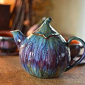 Посуда ручной работы. Ярмарка Мастеров - ручная работа Чайник Сладкий Инжир. Handmade.