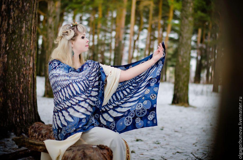batik stole 'the steampunk wings steampunk', Subculture Attributes, Yaroslavl,  Фото №1