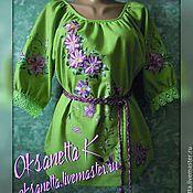 """Одежда handmade. Livemaster - original item Блуза """"Клематисы 2"""". Handmade."""