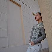 """Одежда ручной работы. Ярмарка Мастеров - ручная работа Свитер """"Серый мрамор"""". Handmade."""