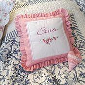 Для дома и интерьера handmade. Livemaster - original item Personalized children`s pillow (cover and pillow). Handmade.