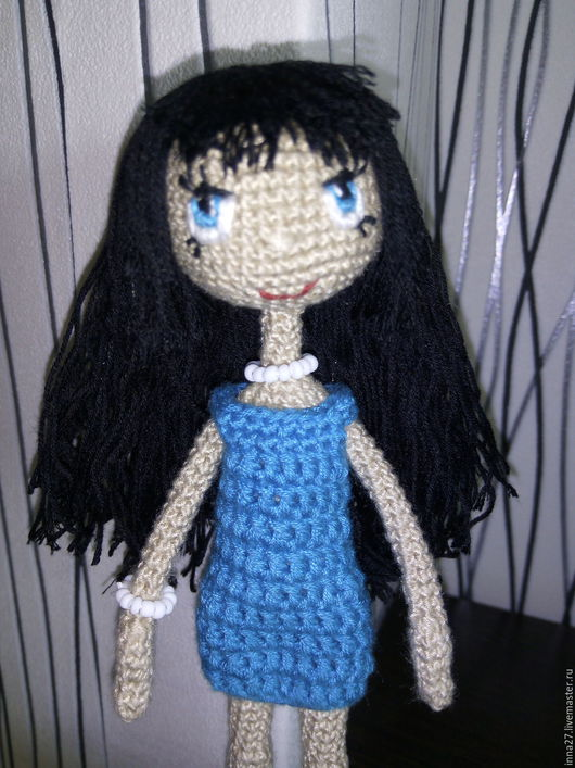Человечки ручной работы. Ярмарка Мастеров - ручная работа. Купить Кукла. Handmade. Синий, трессы для кукол, синтепон