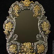 Для дома и интерьера ручной работы. Ярмарка Мастеров - ручная работа Зеркало в декоративной рамке в стиле барокко. Handmade.
