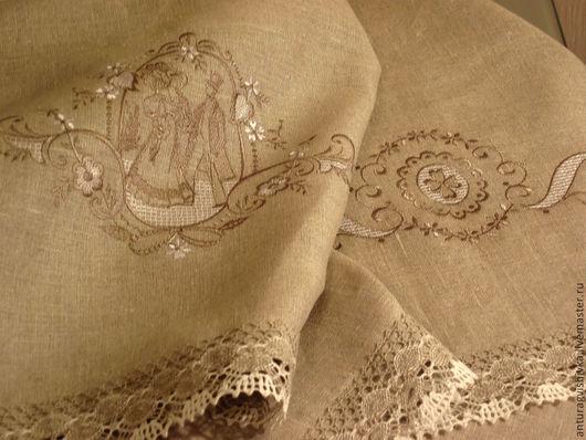 Вышитая скатерть Королевский подарок - прекрасный подарок на Новый год, подарок на любой случай, подарок на свадьбу.