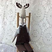Куклы и игрушки ручной работы. Ярмарка Мастеров - ручная работа Тильда лось. Handmade.