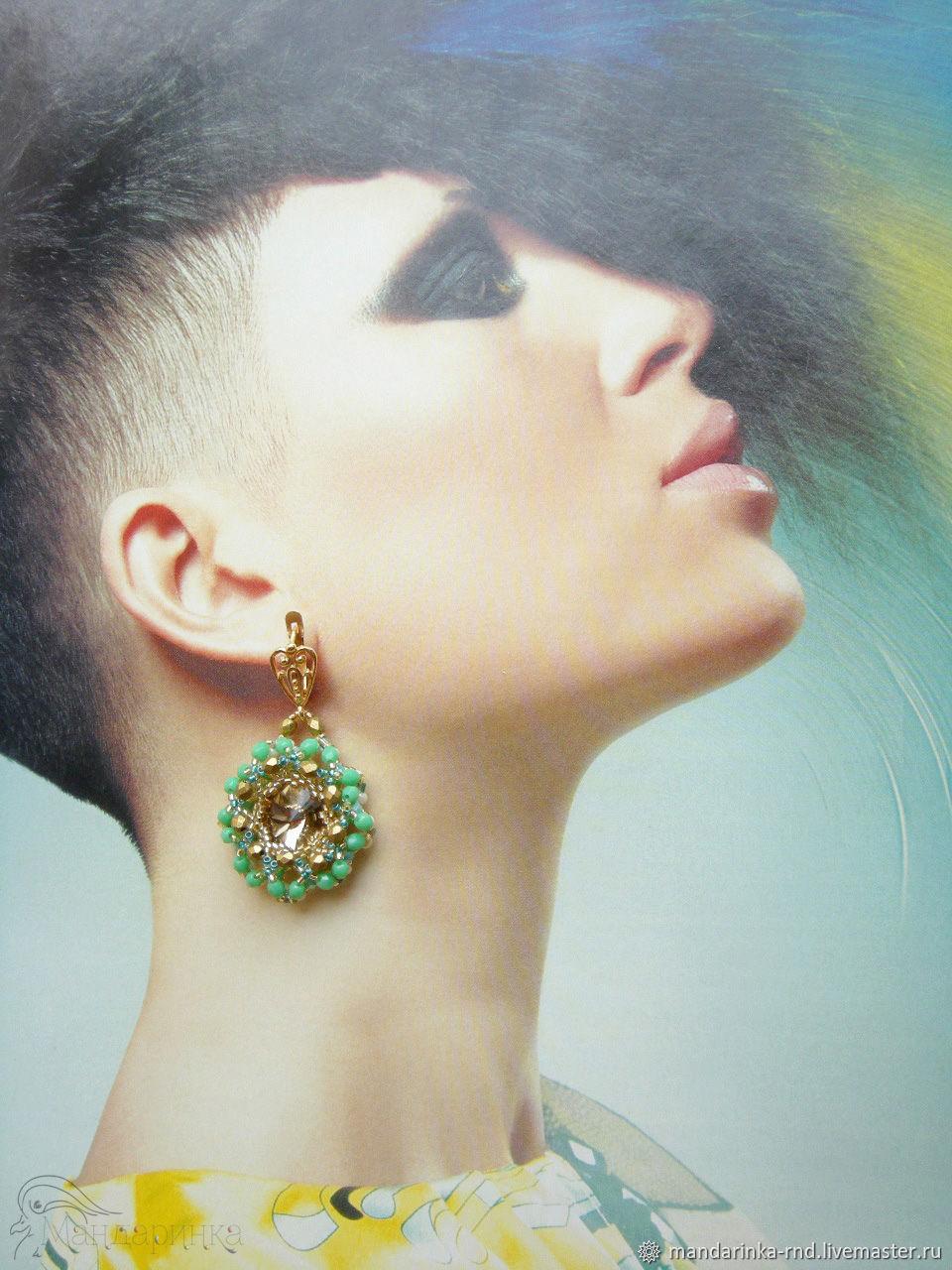 Earrings from beads Princess, Earrings, Rostov-on-Don,  Фото №1