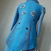 """Одежда ручной работы. Ярмарка Мастеров - ручная работа Валяный жилет """"Небеса"""". Handmade."""
