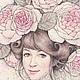 Фантазийные сюжеты ручной работы. Английская роза.. Vasilisk. Интернет-магазин Ярмарка Мастеров. Фея, сад, волшебный сад, тушь
