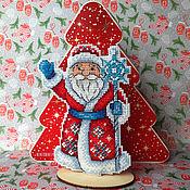 Сувениры и подарки handmade. Livemaster - original item Decor: Cross stitch Santa Claus. Handmade.