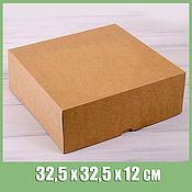 Коробки ручной работы. Ярмарка Мастеров - ручная работа Коробка для торта 32,5х32,5х12 см. Handmade.