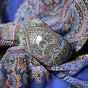 Украшения ручной работы. Ярмарка Мастеров - ручная работа Браслет с ручной росписью под павловопосадский платок. Handmade.